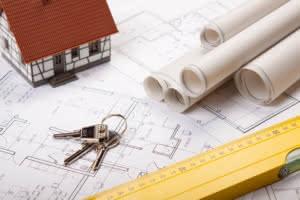 Architektenplan eines Hauses