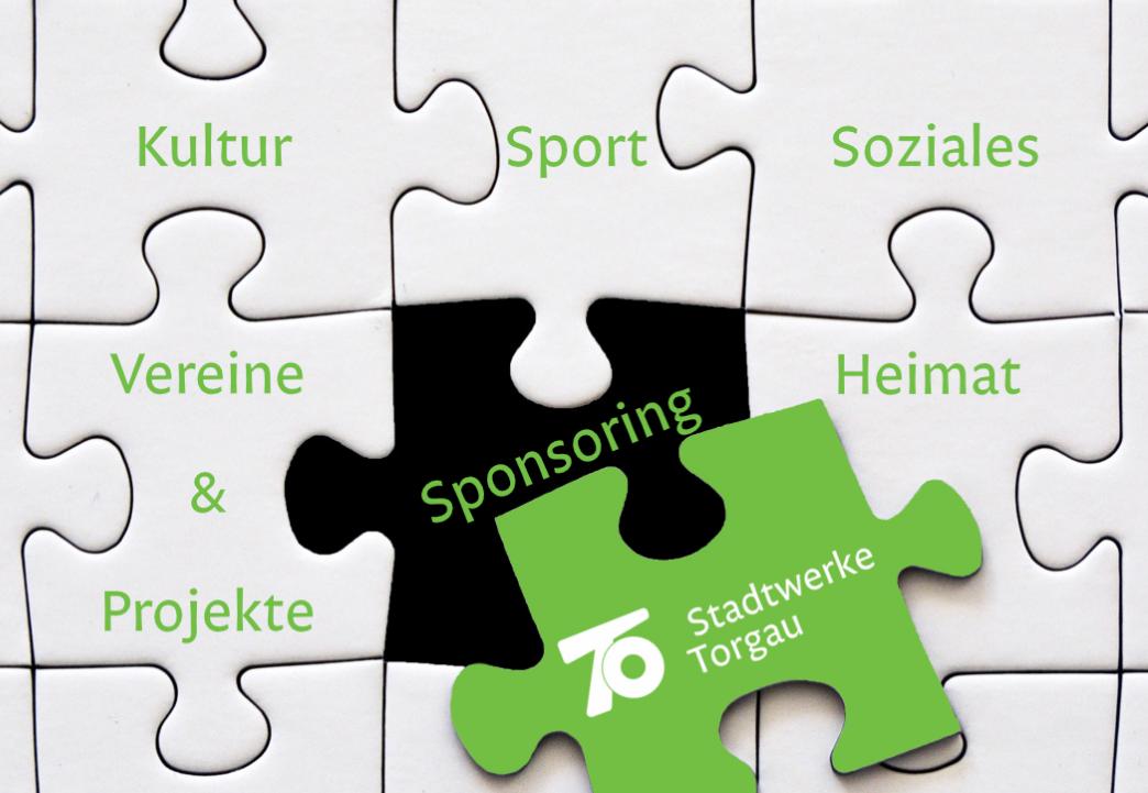 Puzzle mit Schlagwörter für Engagement Stadtwerke Torgau